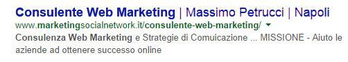 snippet consulente web marketing