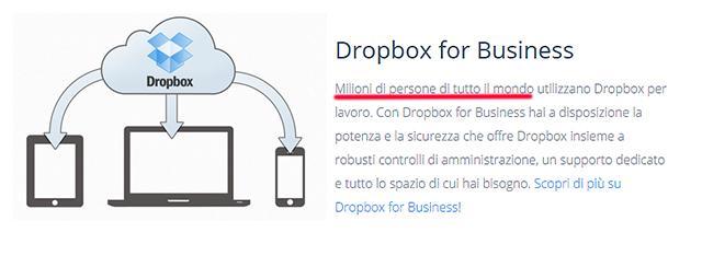 dropbox backup e condivisione dati online