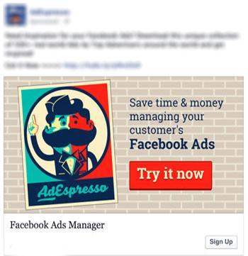facebook advertising esempio