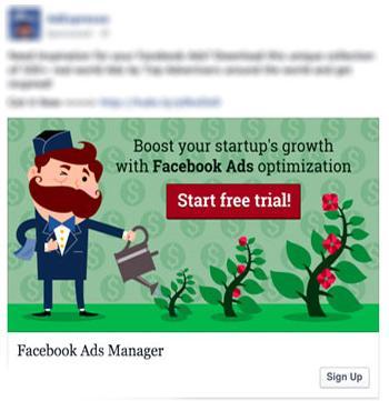 facebook advertising esempio 4