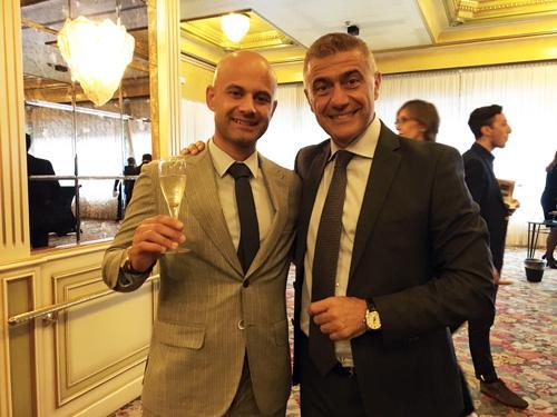 Massimo Petrucci con Antonio Pecoraro Scanio