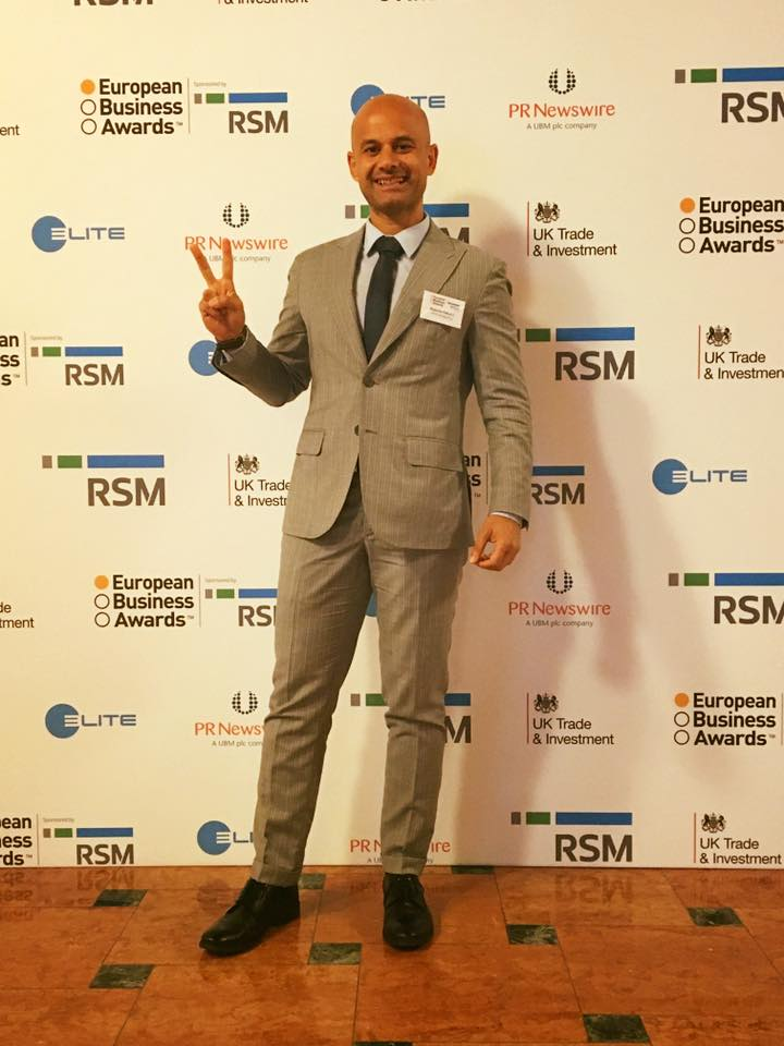 Massimo Petrucci all European Business Awards