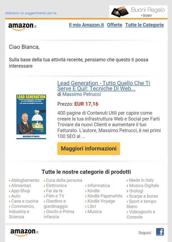 lead generation newsletter amazon