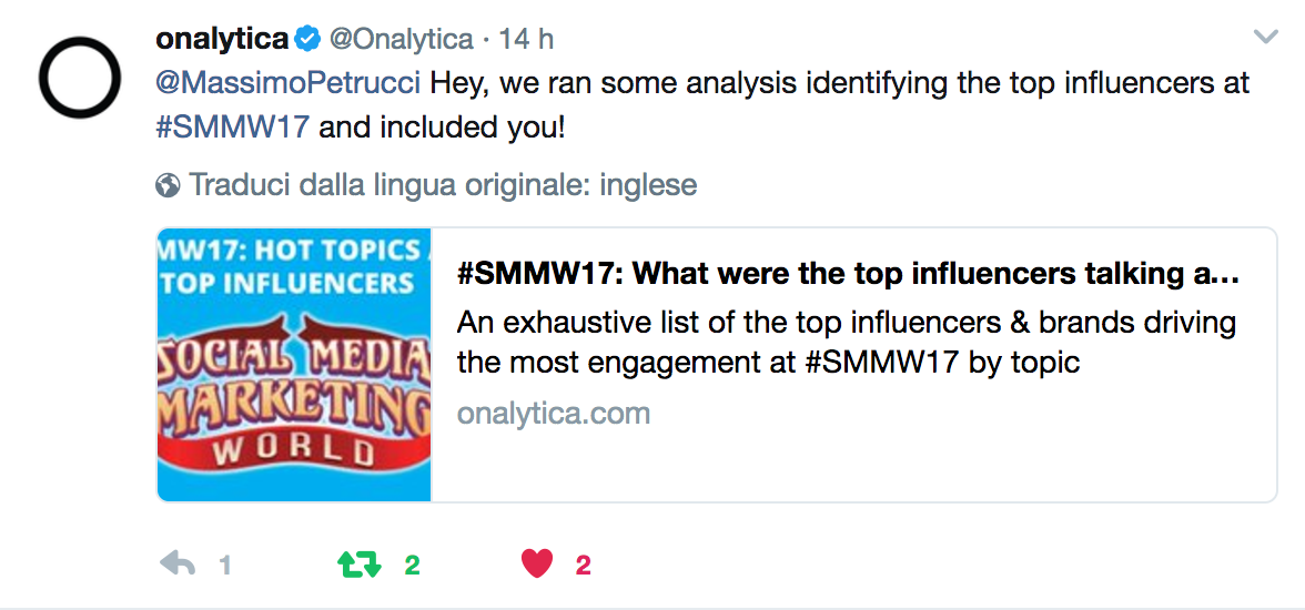 onalytica top 100 influencers smmw17