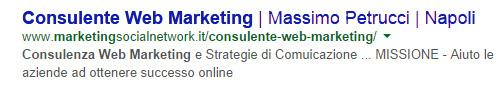 snippet consulente web marketing