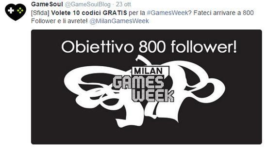 concorso su twitter gamesweek